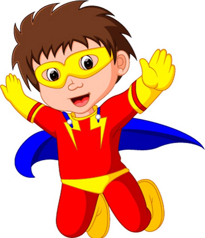 Kid Superhero clipart images