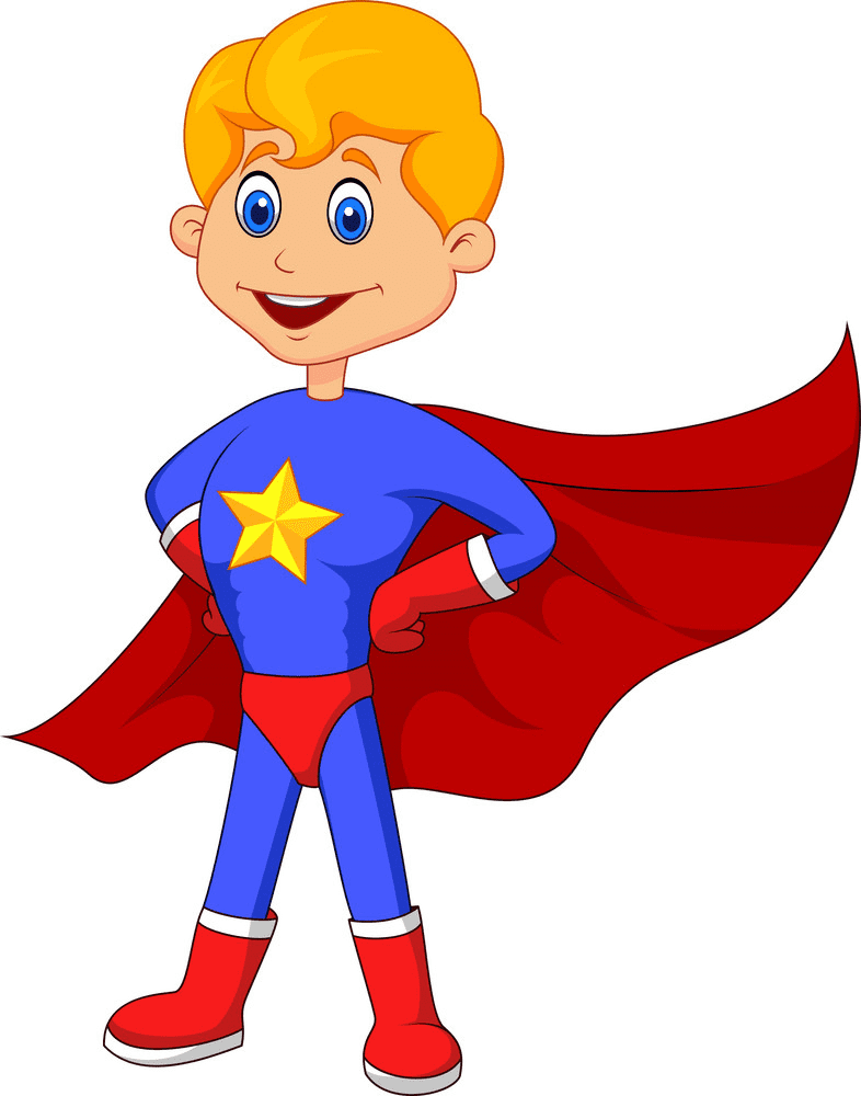 Kid Superhero clipart picture