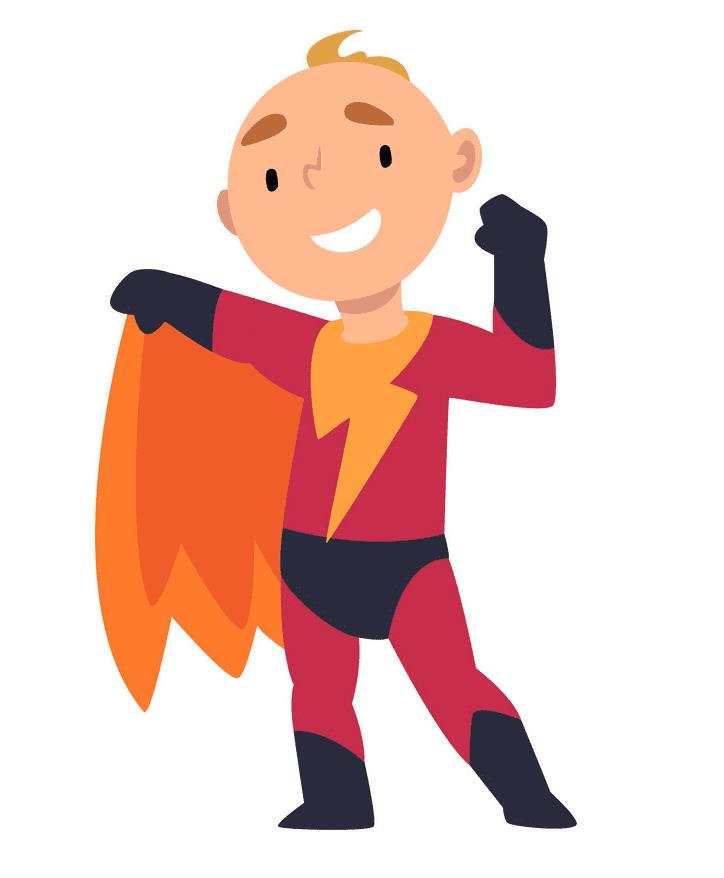 Kid Superhero clipart png image