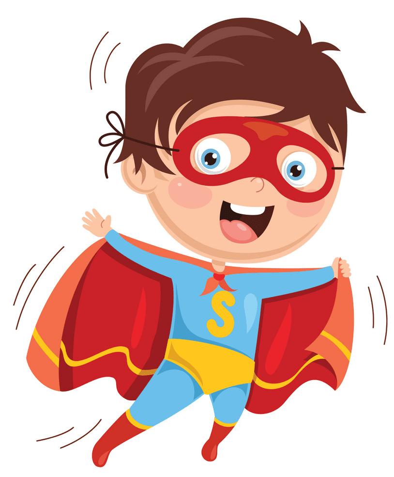 Kid Superhero clipart