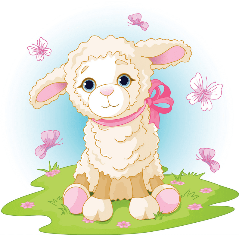 Lamb clipart png for kid