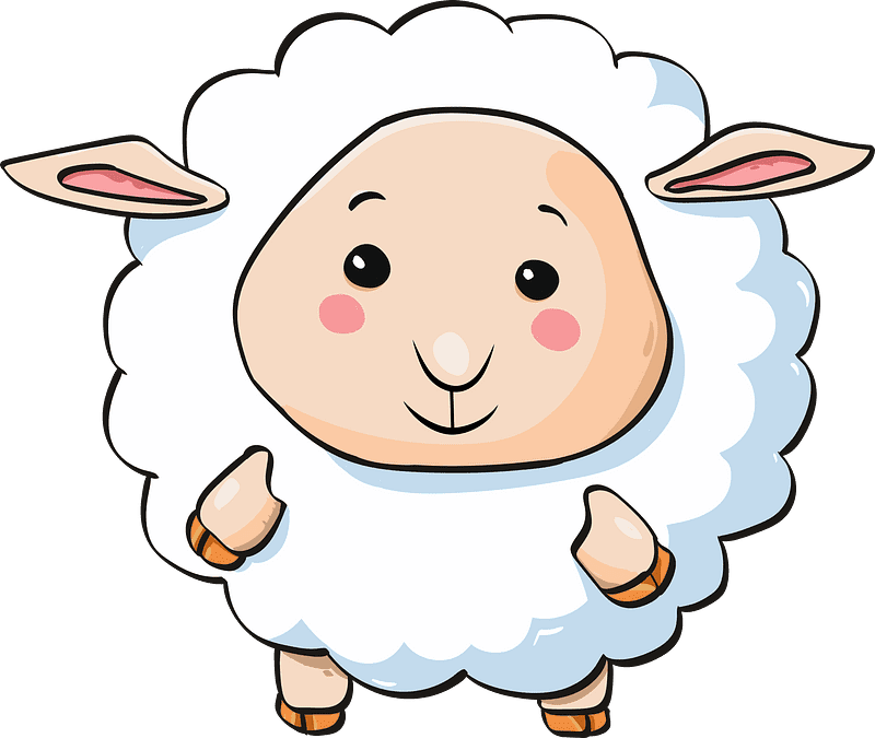 Lamb clipart transparent 12