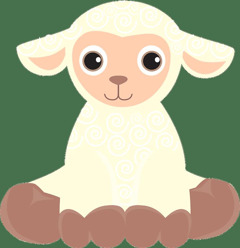 Lamb clipart transparent 8