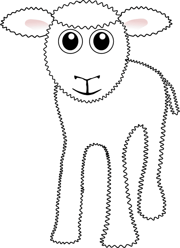 Lamb clipart transparent background 6