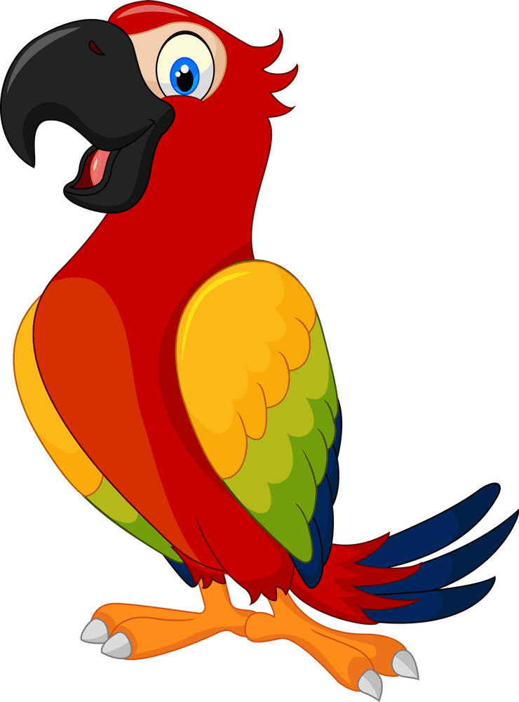 Parrot clipart free