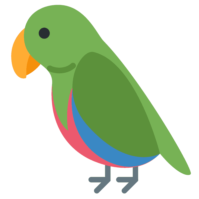 Parrot clipart transparent background 1