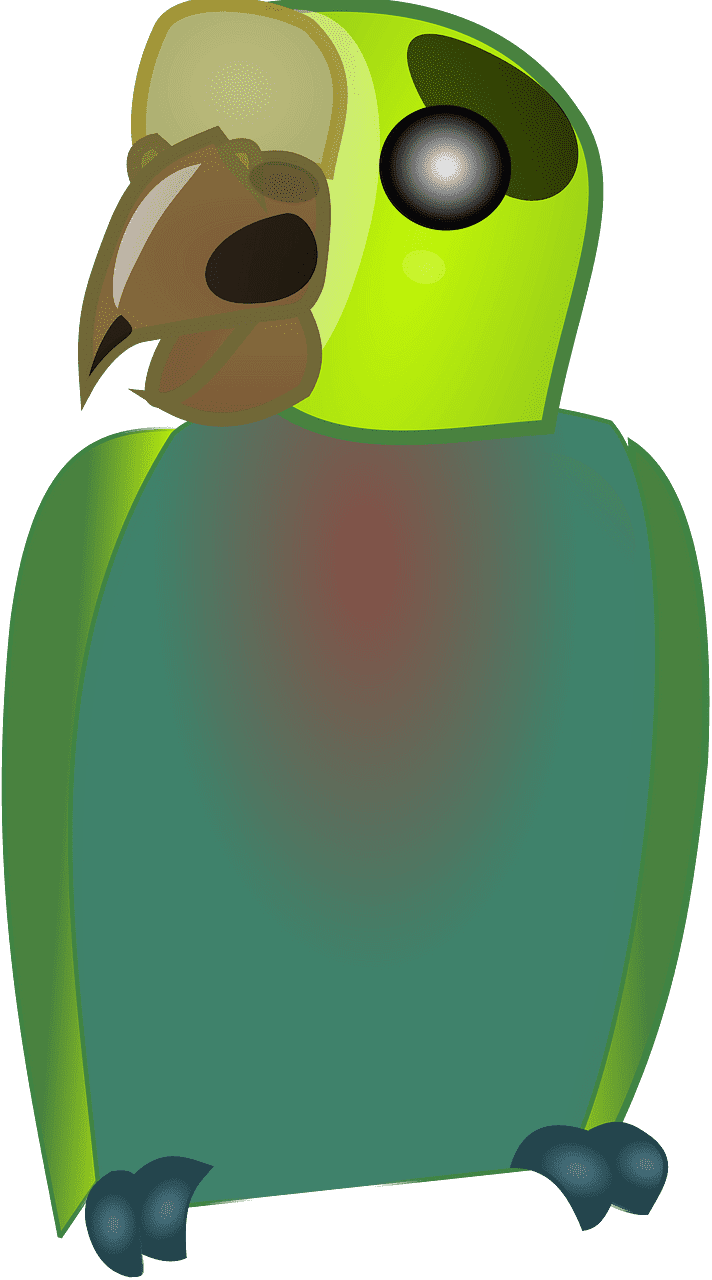 Parrot clipart transparent background 4