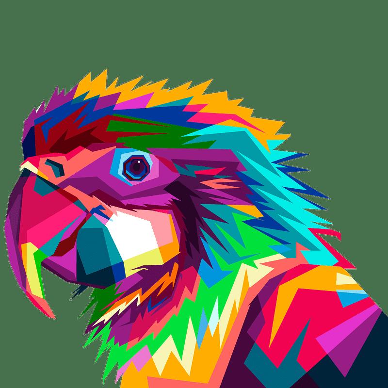 Parrot clipart transparent background 6
