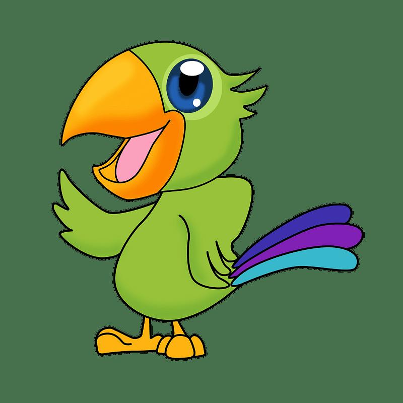Parrot clipart transparent background 9