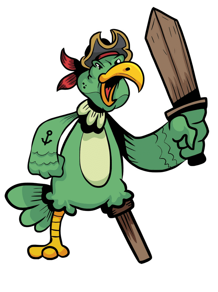 Pirate Parrot clipart download