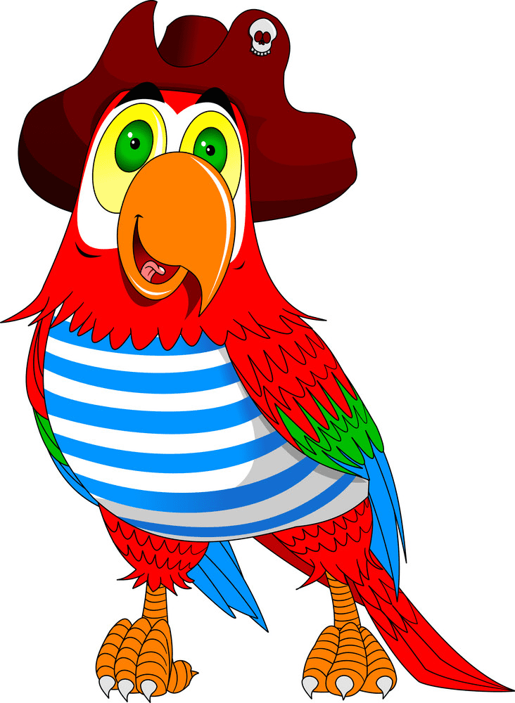 Pirate Parrot clipart for free
