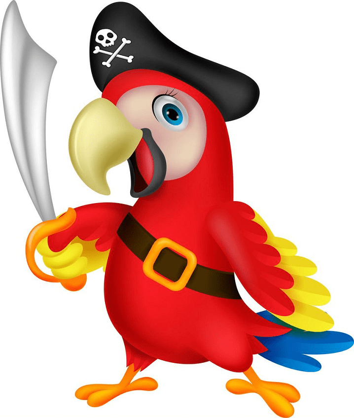 Pirate Parrot clipart image