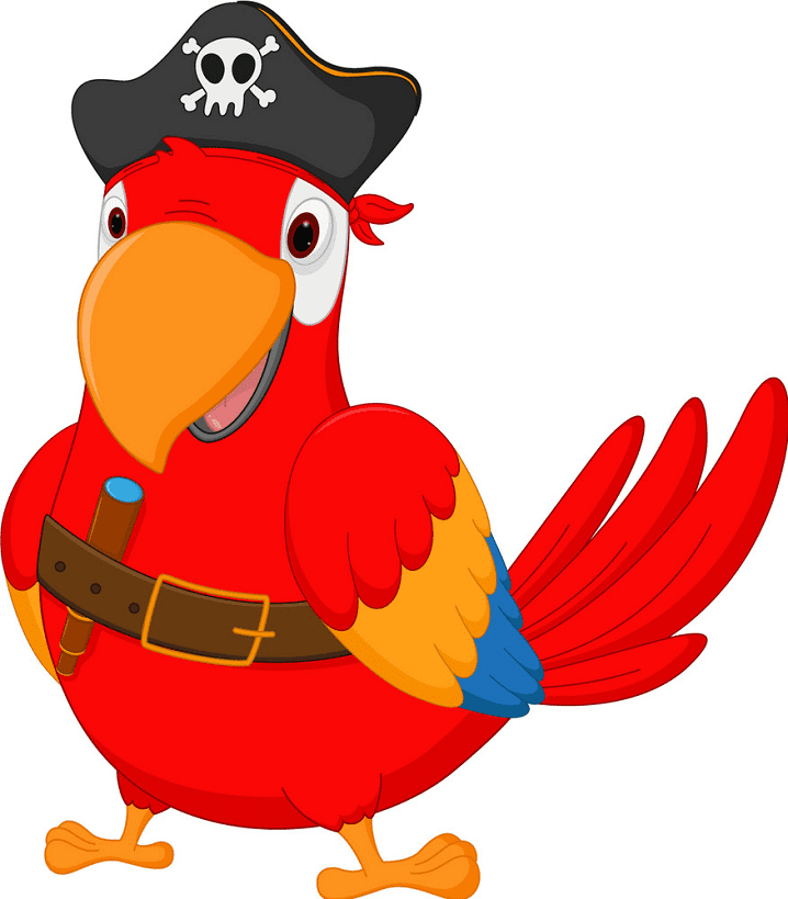Pirate Parrot clipart images
