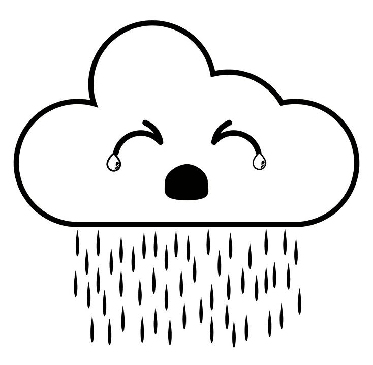 Rain Cloud clipart for kid