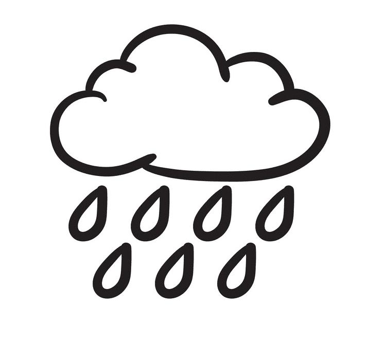 Rain Cloud clipart for kids