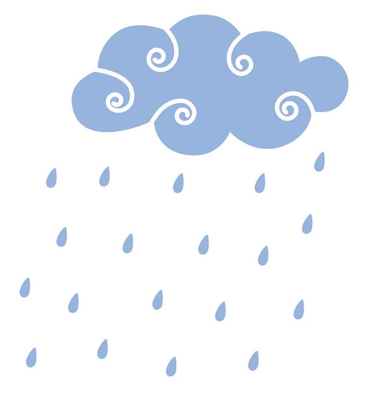 Rain Cloud clipart png for kid