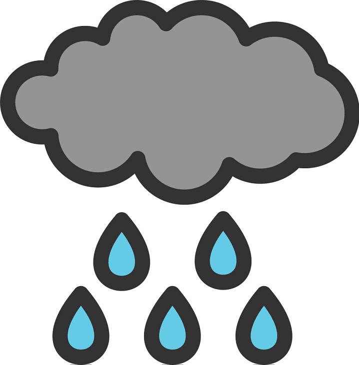 Rain Cloud clipart png images