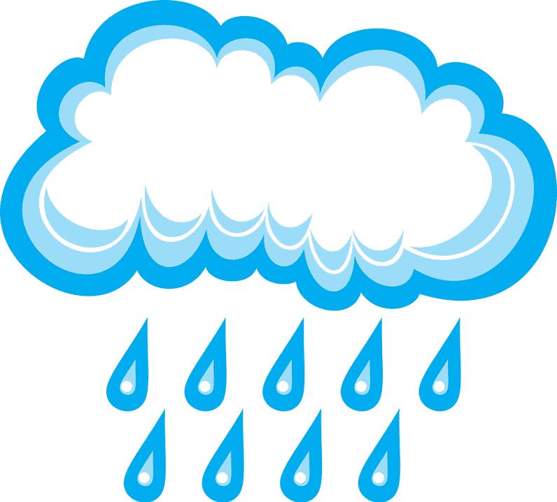 Rain clipart for free