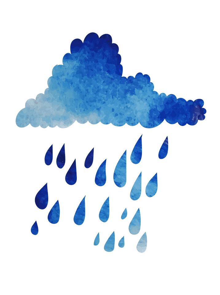Rain clipart for kids