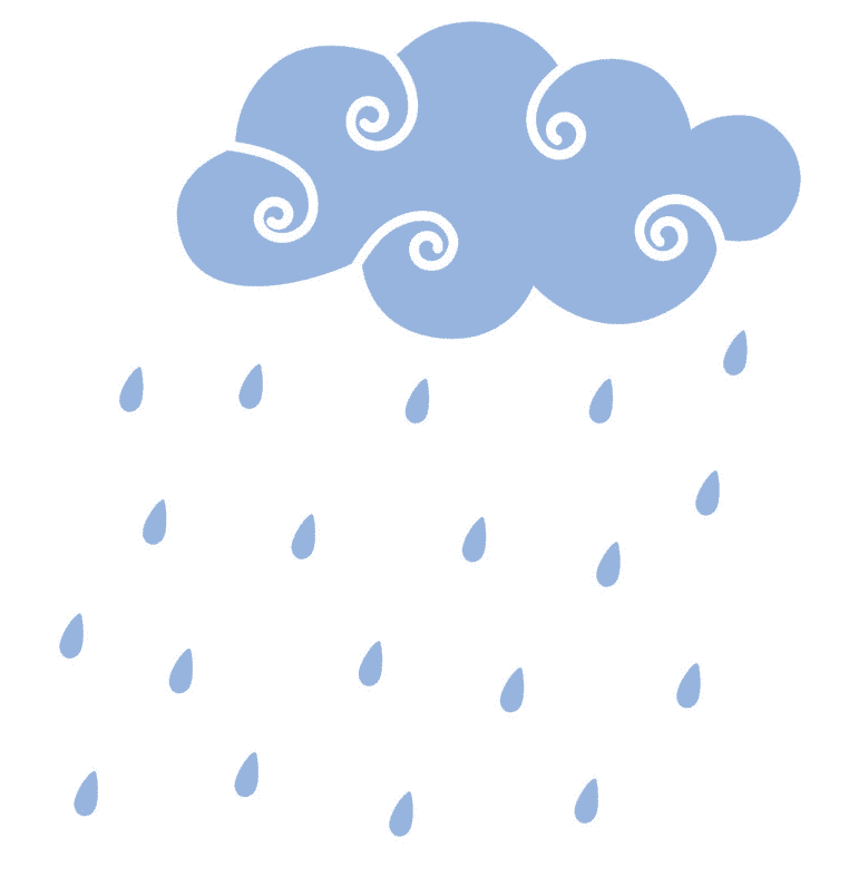 Rain clipart png for kid