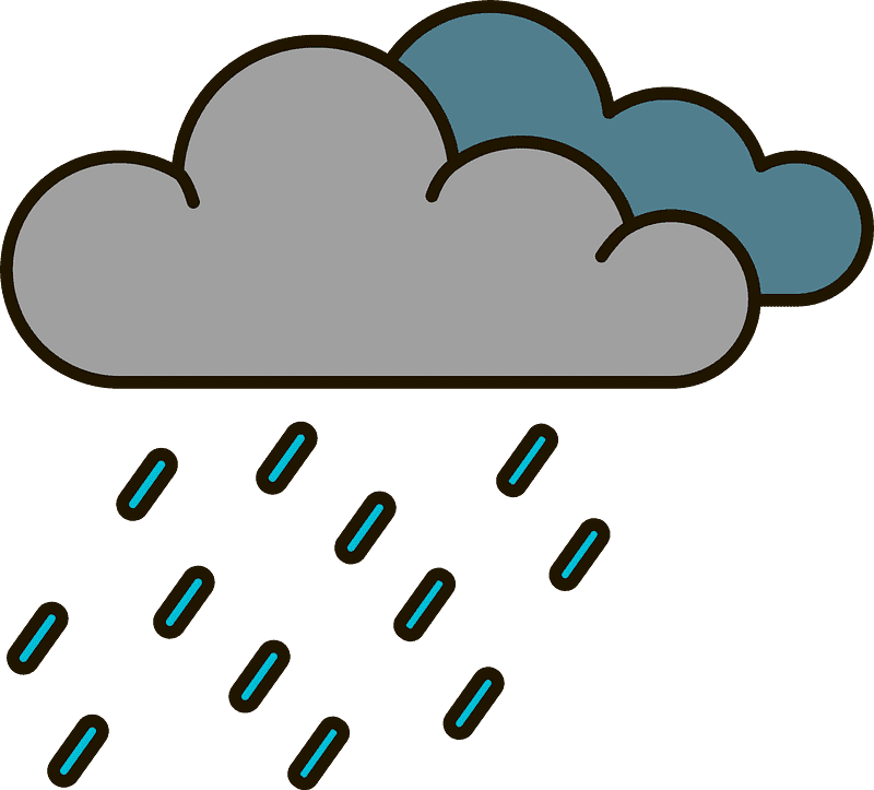 Rain clipart transparent 10