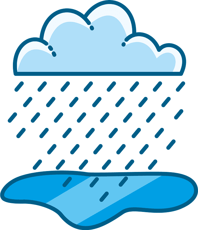 Rain clipart transparent 3
