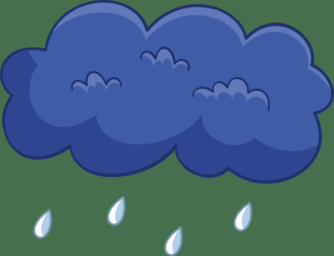 Rain clipart transparent background 4