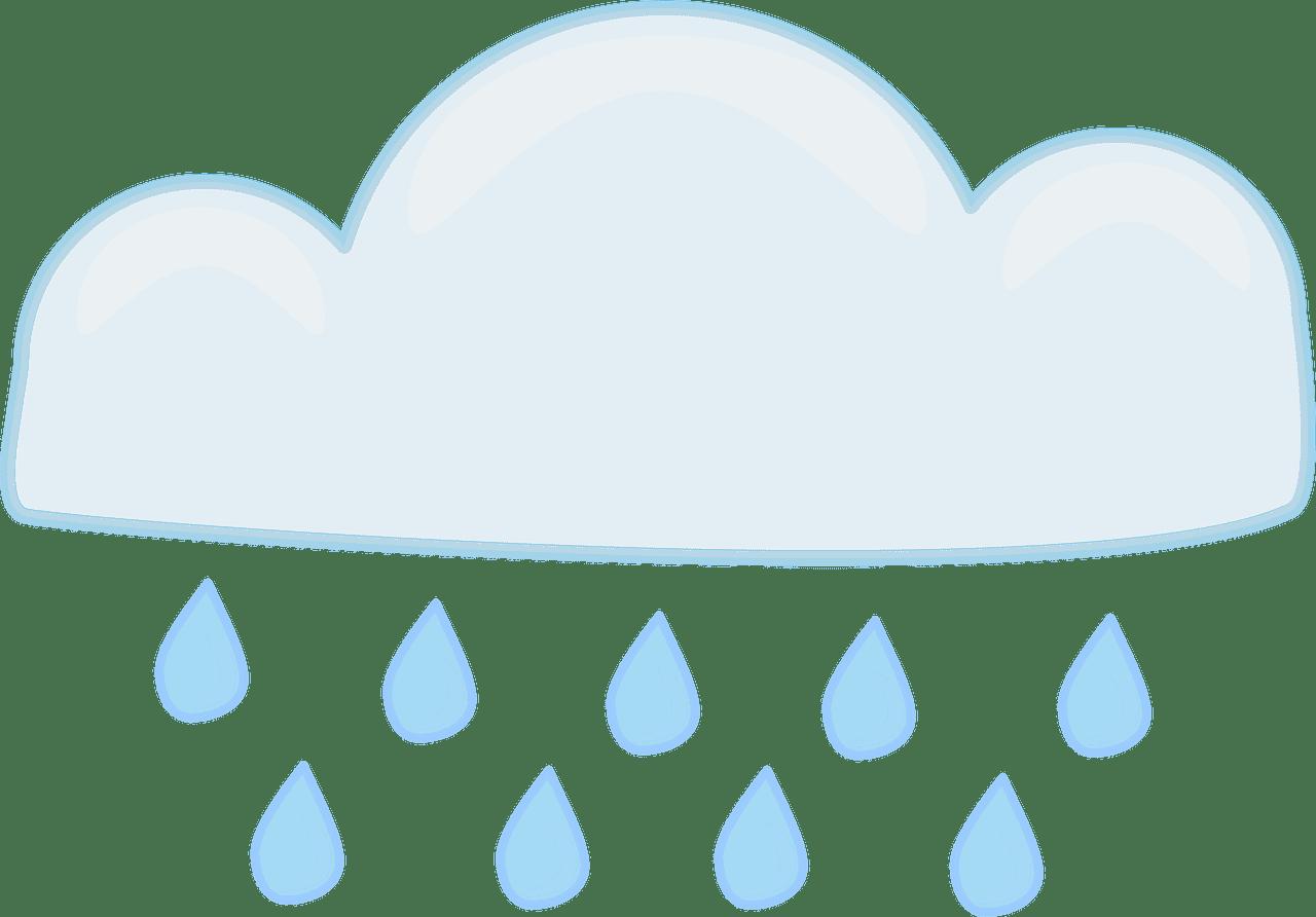 Rain clipart transparent background 5