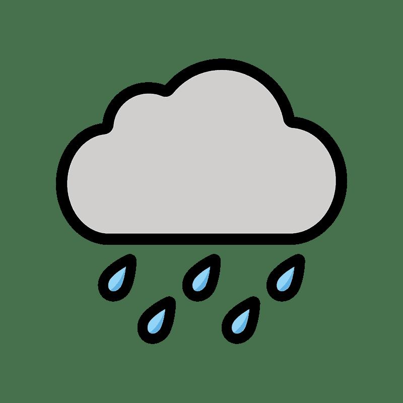 Rain clipart transparent background 7
