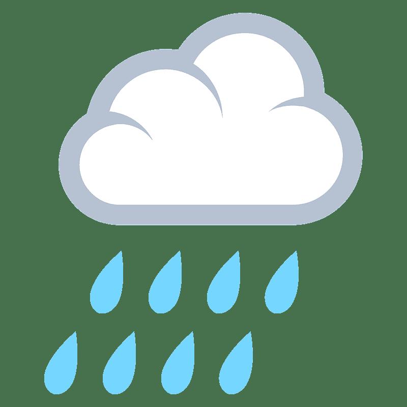 Rain clipart transparent background 8