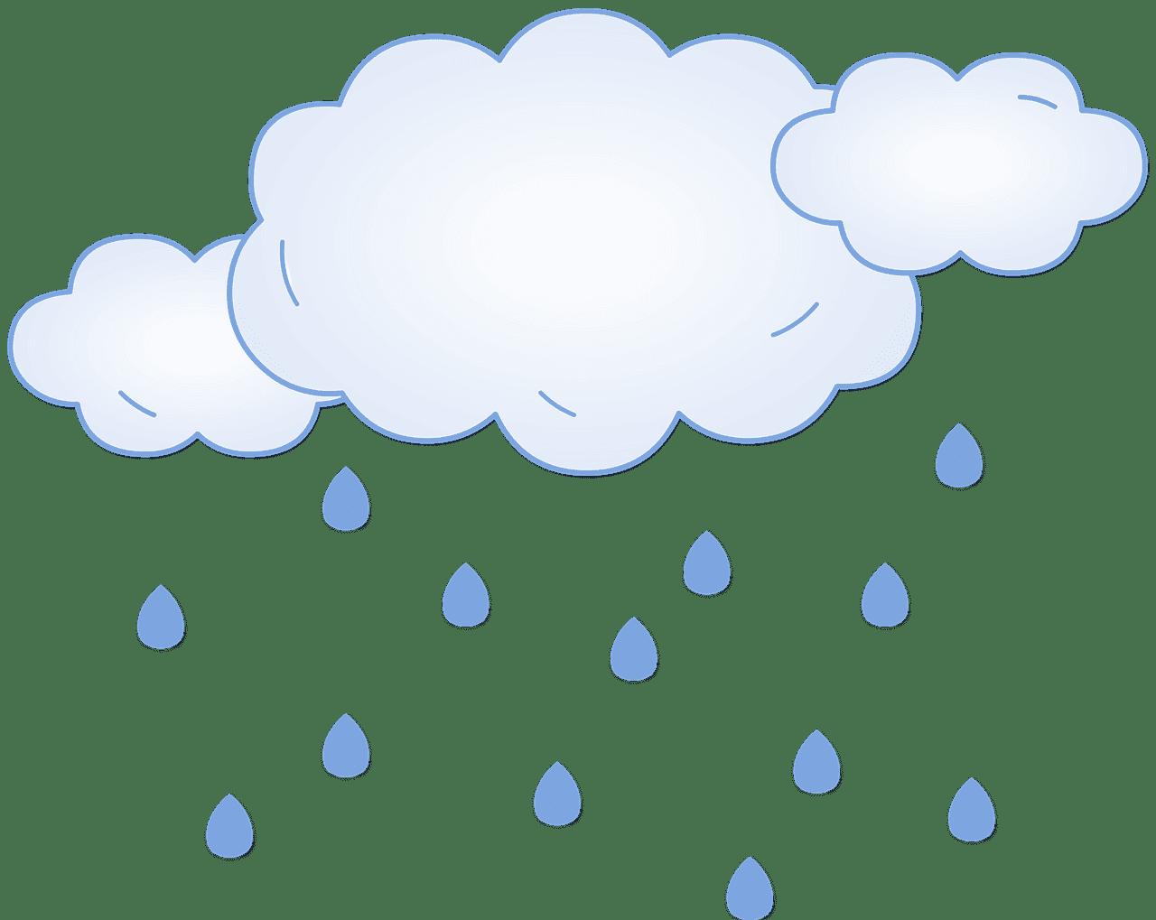 Rain clipart transparent free