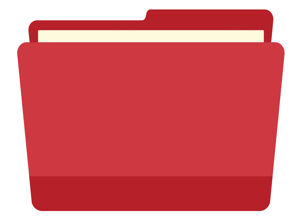 Red Folder clipart for free