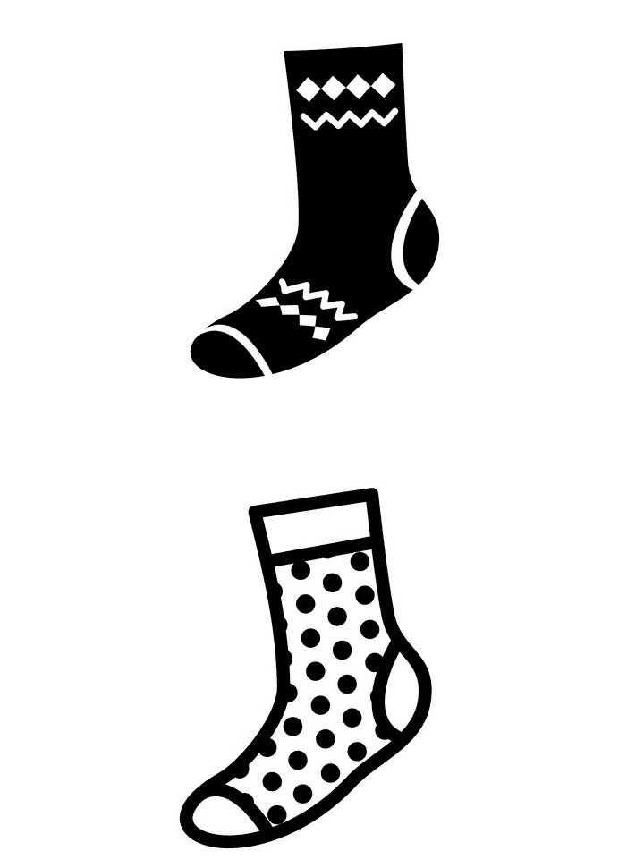 Socks clipart 1