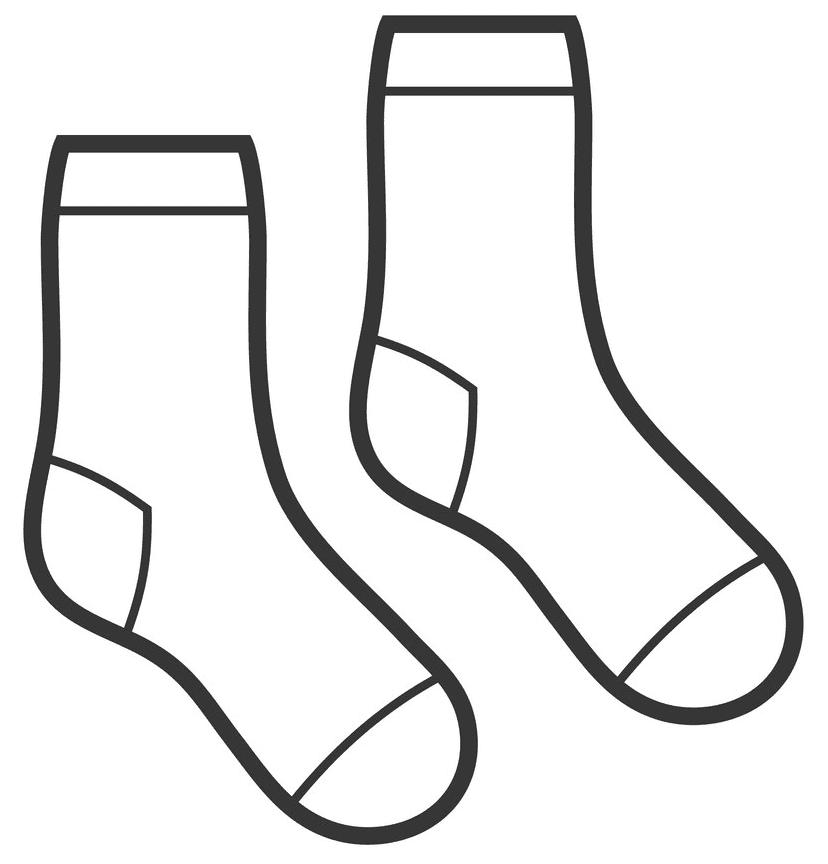 Socks clipart 3
