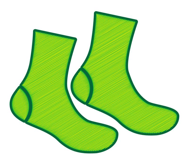 Socks clipart free 1