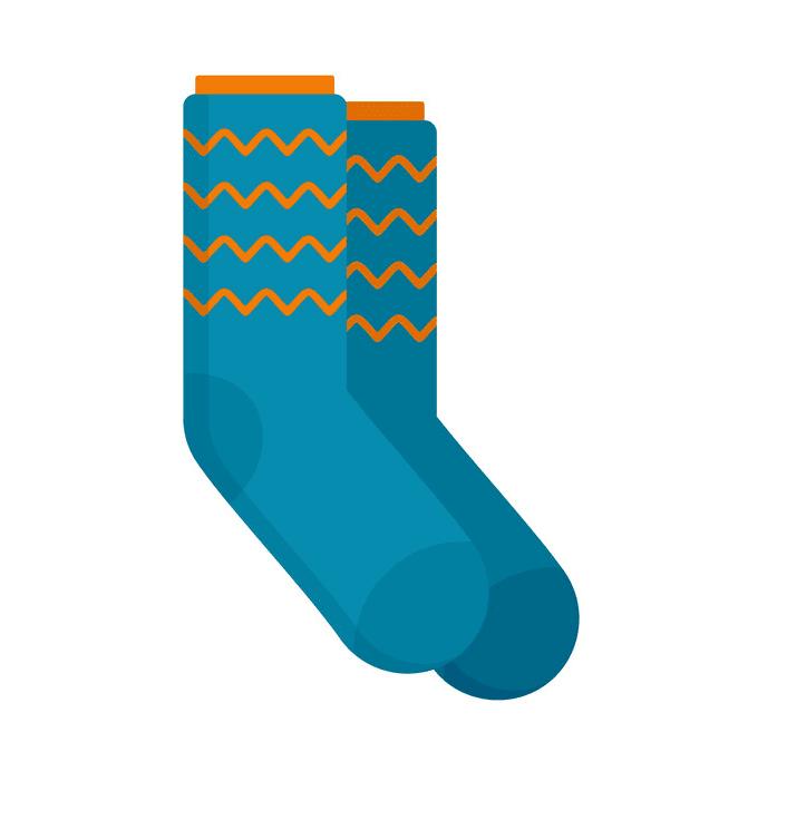 Socks clipart free for kid