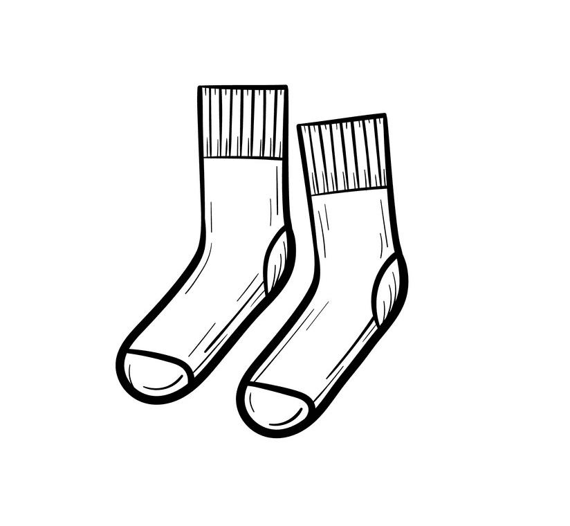Socks clipart free image
