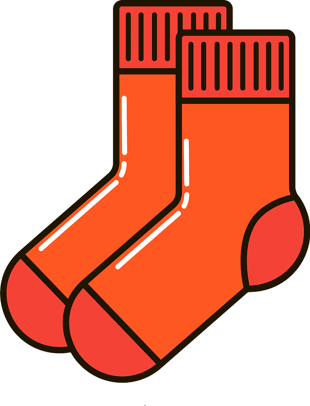 Socks clipart transparent for free
