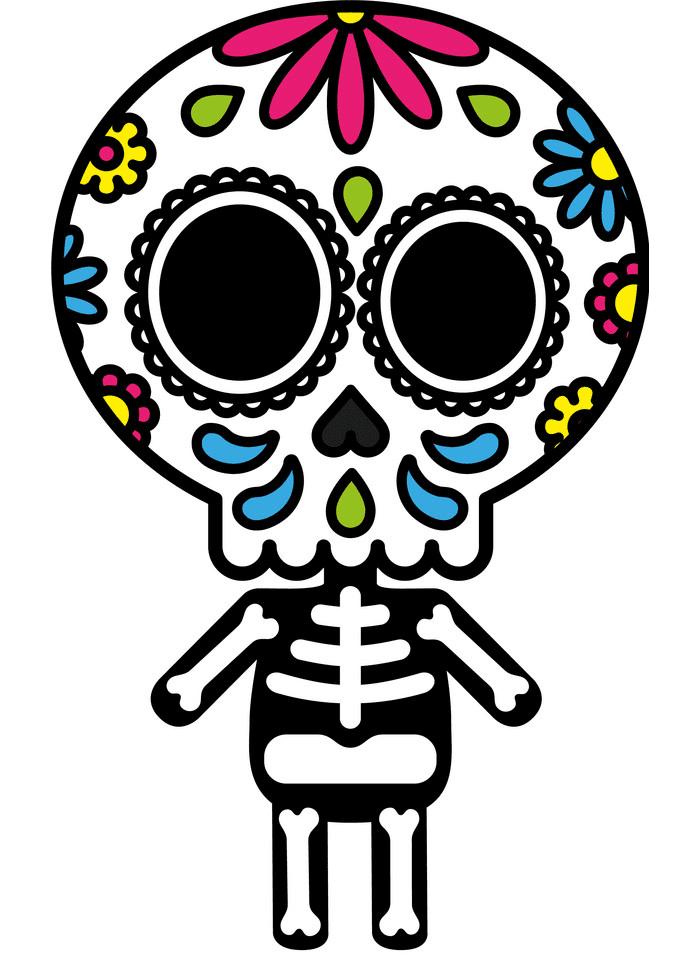 Sugar Skull clipart free 1