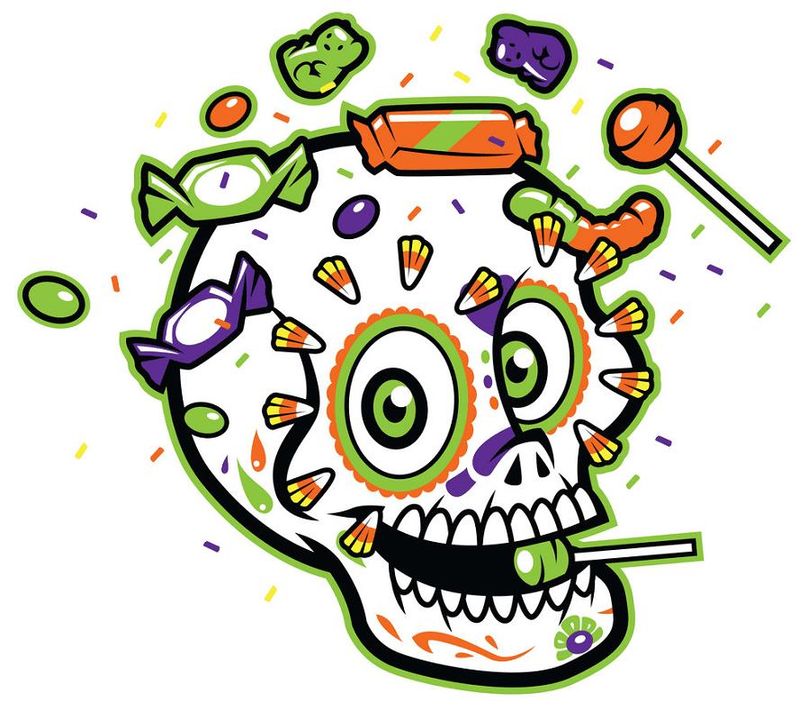 Sugar Skull clipart free 5