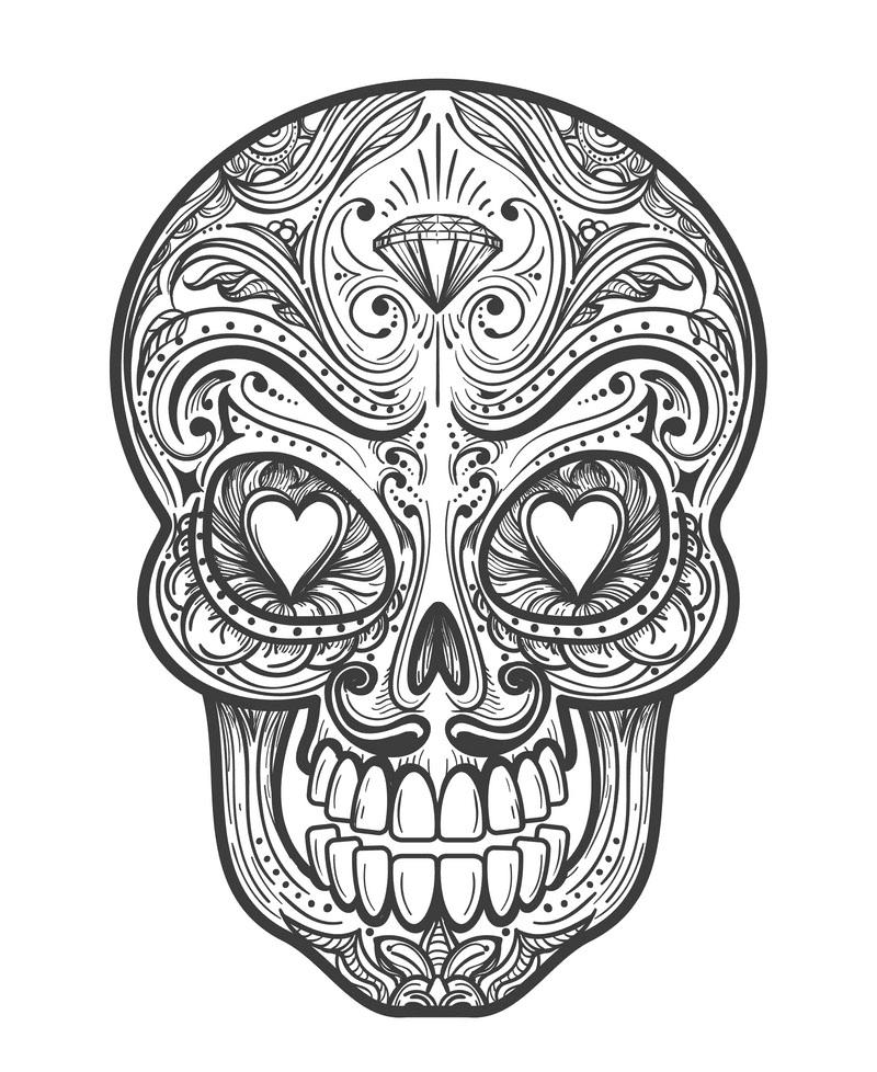 Sugar Skull clipart image