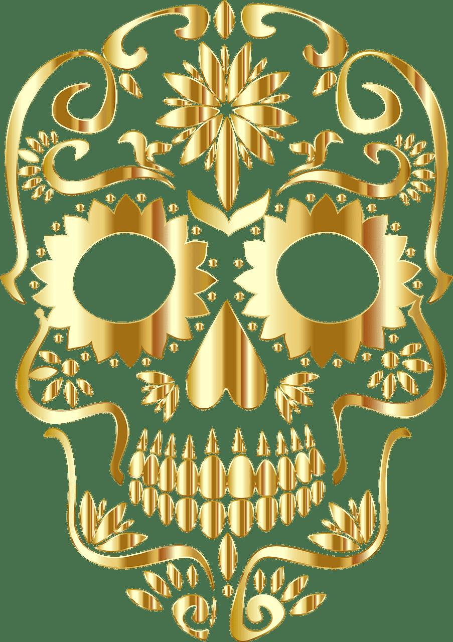 Sugar Skull clipart transparent 11