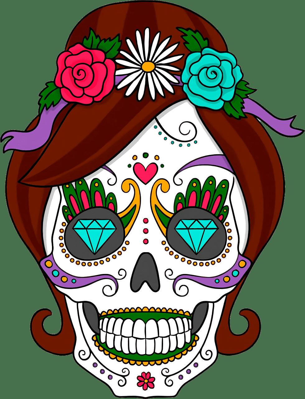 Sugar Skull clipart transparent 12
