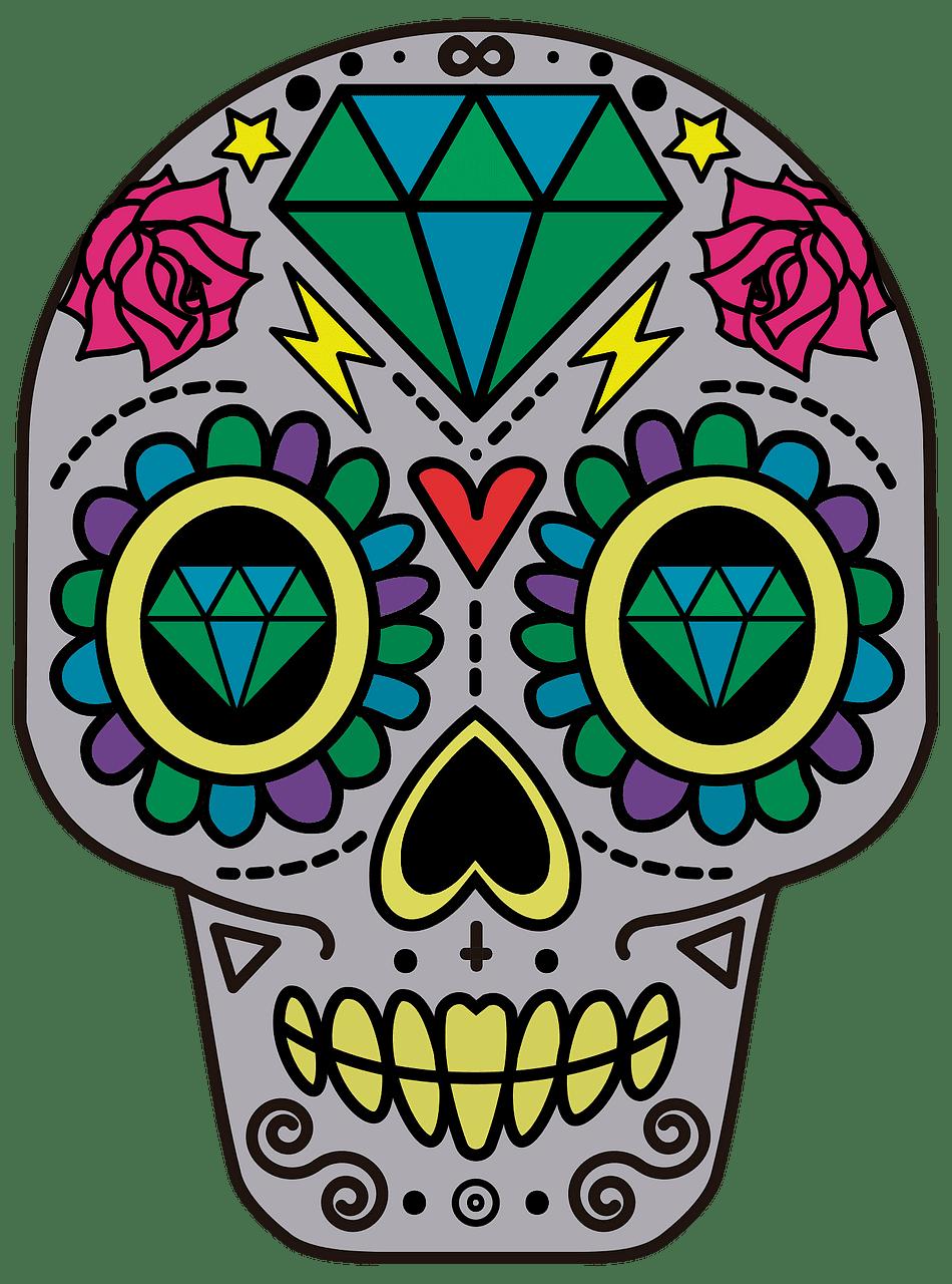 Sugar Skull clipart transparent 13