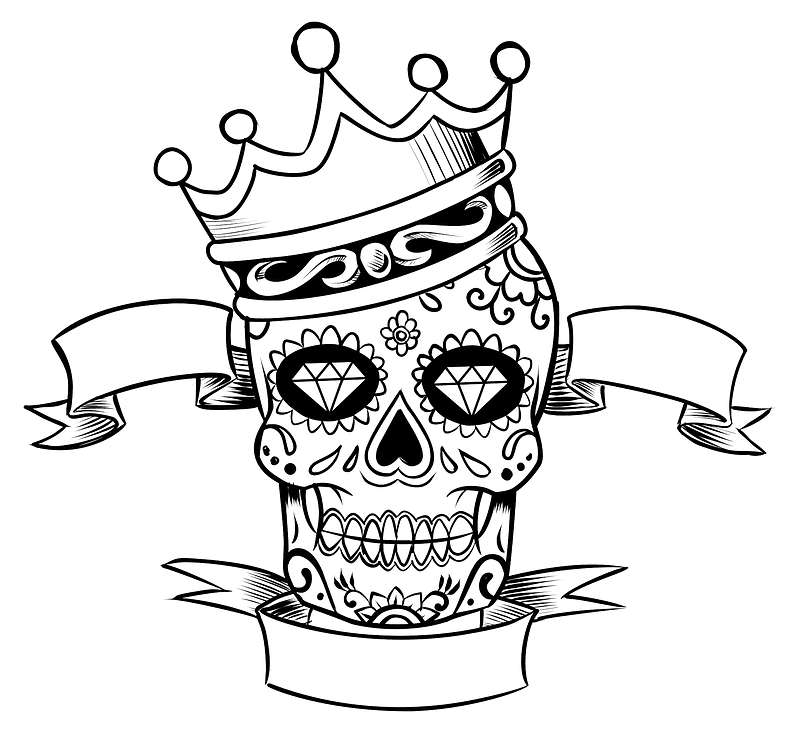 Sugar Skull clipart transparent 14