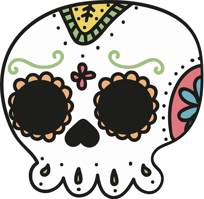 Sugar Skull clipart transparent 2