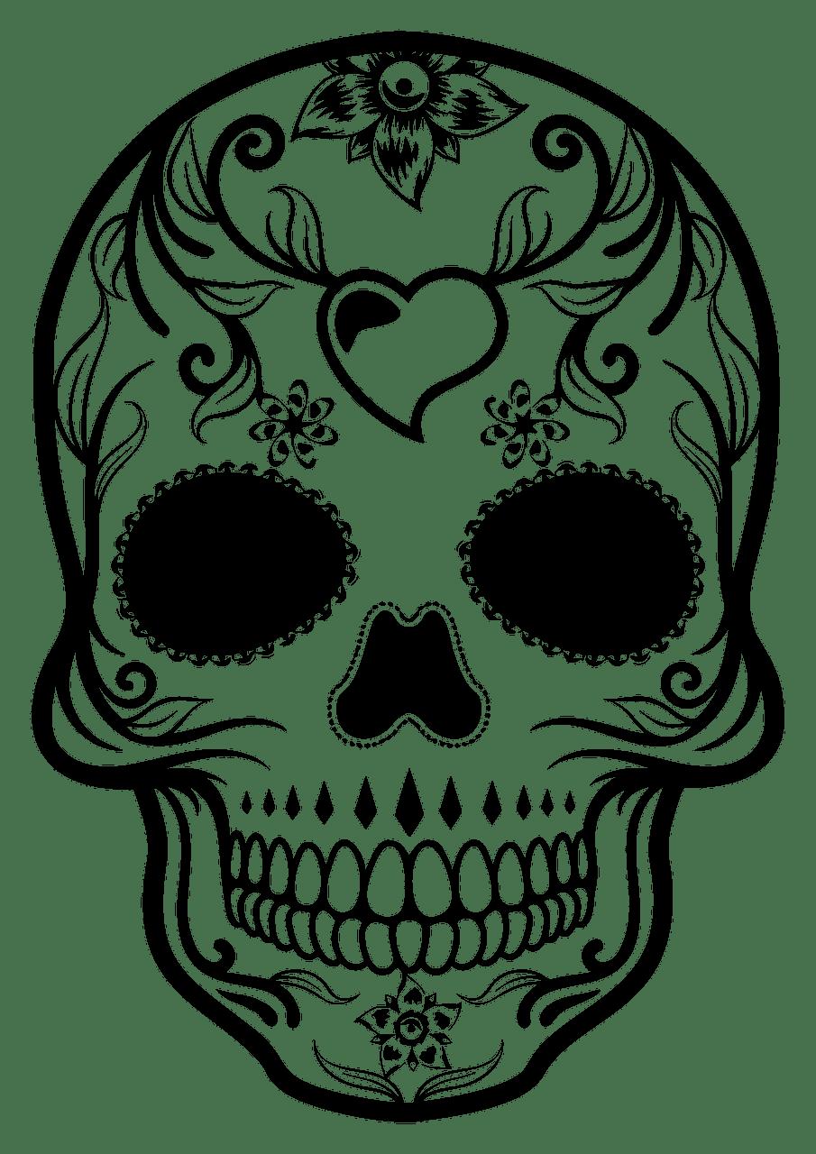 Sugar Skull clipart transparent 6