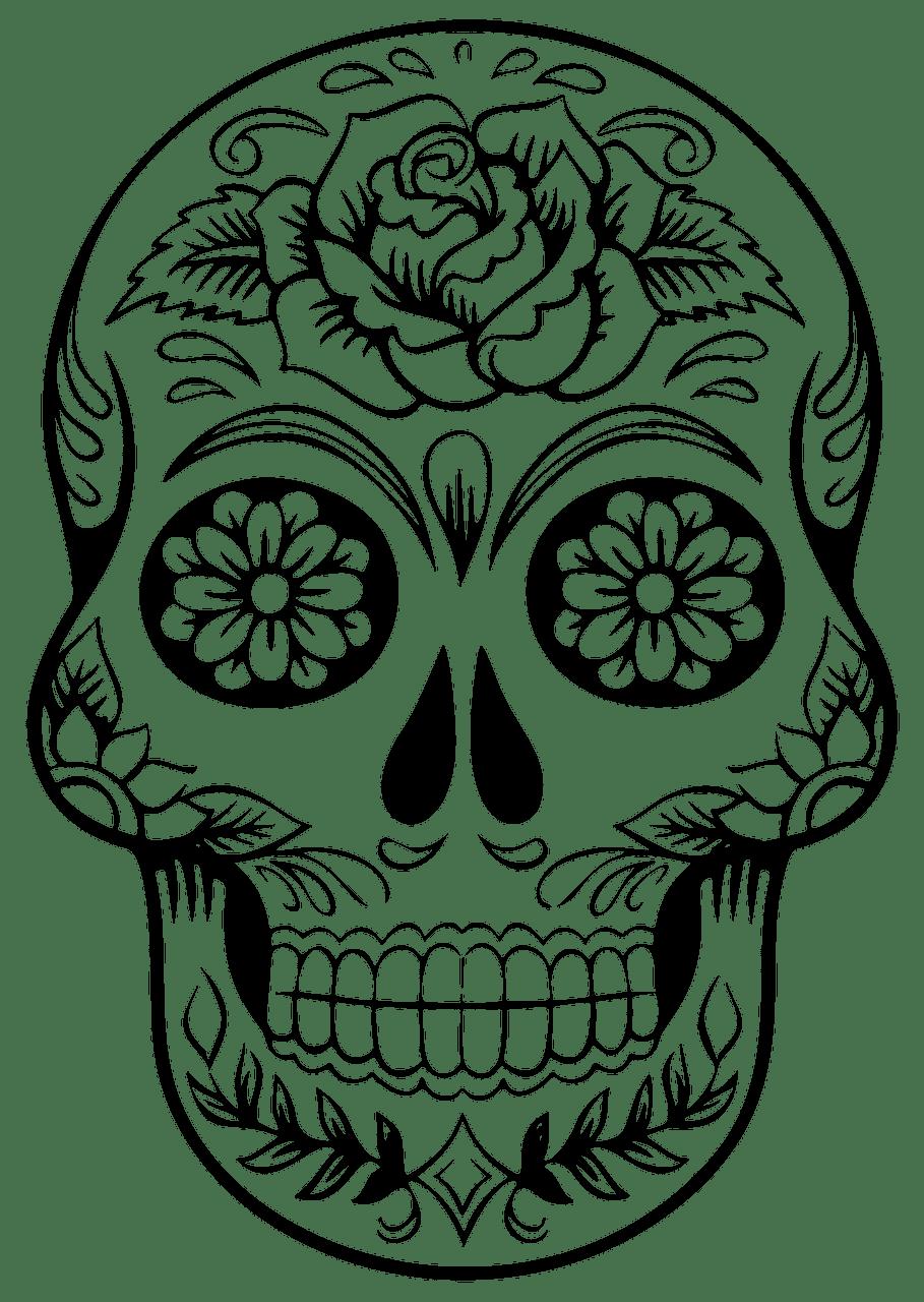 Sugar Skull clipart transparent 7