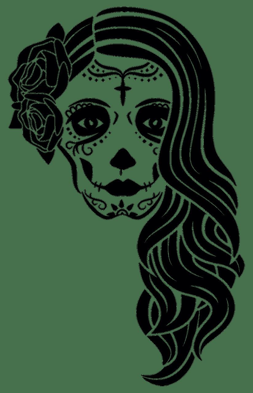 Sugar Skull clipart transparent 9