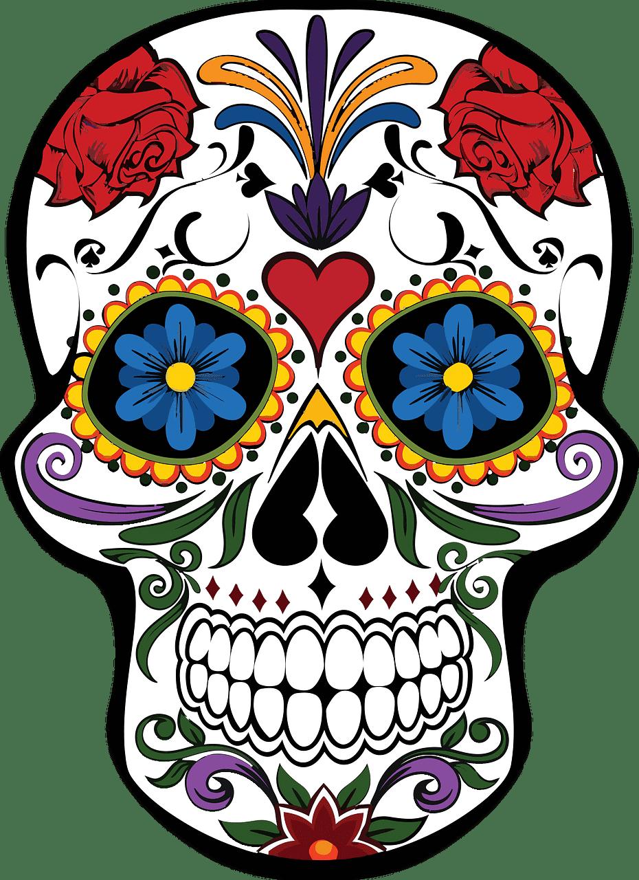 Sugar Skull clipart transparent background 2